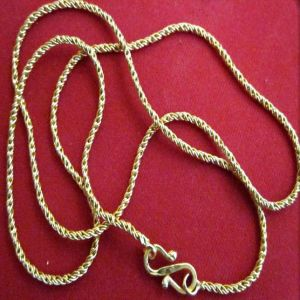 Unisex 1g Gold Plated Foaming Artificial Chain