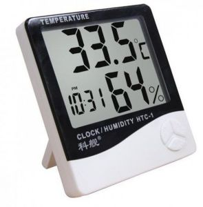 Clocks - 3 In 1 Multifunctional Clock, Room Temperature & Humidity Meter