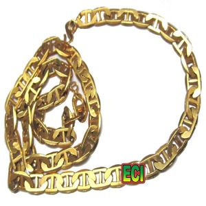 Men's Jewellery - Eci 24 Inch Gents Ladies Fat Artificial Sachin Chain 1g Gold Plated Foaming