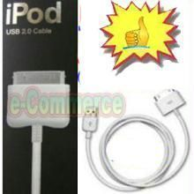Apple iPod Cables - USB Dock Connector Cable For Apple iPod Free Gift