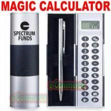 Pens - MAGIC Rotating Calculator with Pen & CASE -GiftSet