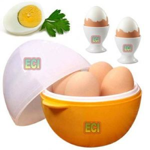 Kitchen Appliances (Misc) - Eci - Premium Microwave 4 Egg Boiler, Micro Wave Oven Boiled Eggs In 2 Min