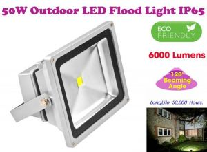 Outdoor led lights - Gadget Hero's 50w LED Outdoor Flood Light White Focus Waterproof