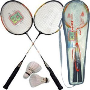 Badminton - Pair Of Badminton Racket & 2 Shuttle Cock With Cover Bag