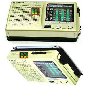 Audio - ECI Original Kaide World 9 Band Radio Receiver Transistor Portable AM FM SW