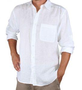Men's Wear - Linen White Formal Shirt