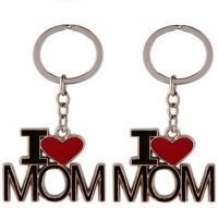 Mo I Love Mom Metal Key Chain (set Of 2 Pcs)