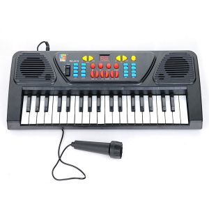 Toys, Games - Eci Kids Karoke Mic Keyboard 37keys Piano Karaoke Synthesizer Microphone