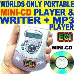 CD Writers - USB External Portable Mini CD Writer & MP3 Player