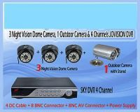 Security Cameras - Set For 3 Dome(ir) Cctv Camera, 1 Outdoor And 4 Channels Dvr Cctv Camera Se