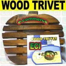 Utensil Racks, Holders - Imported Wood Trivet