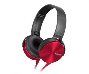 Headphones - Sony Mdr-xb450ap Extra Bass Headphone (red)