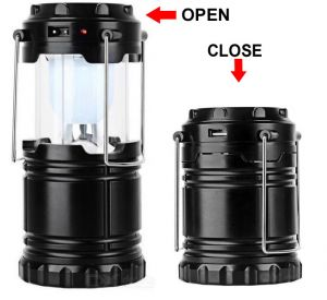 Home Decor & Furnishing - Solar Rechargeable LED Camping Lantern Light