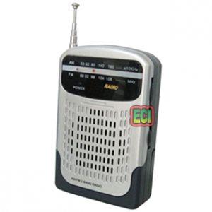FM Radios - ECI - Shirt pocket size Cute Mini Transistor Radio 2 Band Travel AM FM
