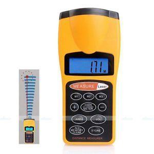Laser Pointers - Ultrasonic Distance Measurer With Laser Pointer New LCD Ultrasonic Pointer