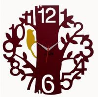 Panache Home Decor & Furnishing - Panache Tree With Bird Wall Clock- Brown