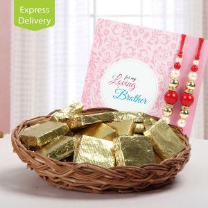 Rakhi Express Gifts (for Brothers in India) - Basket Of Rakhi Fun