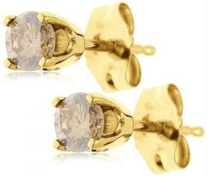Champagne 14k Gold Diamond Earring