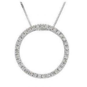 Circle Of Life 14k Gold Diamond Pendant