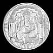 Triveni,Platinum,Jagdamba,Ag Women's Clothing - 3GM AG 995 PURE SILVER COIN