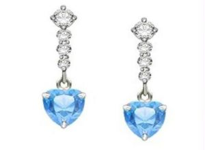 Ag Gem Diamond Blue Gemstones Dangling Earring
