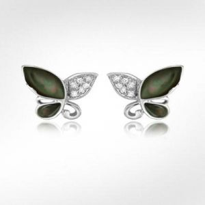 avsar,ag,lime,kalazone,shonaya Diamond Earrings - AgGem Diamond Marquise Gemstones Butter FlyEarring