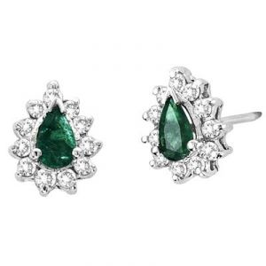 triveni,lime,ag,port,kiara,avsar Diamond Earrings - Ag Gem Diamond green Pear Gemstones Earring