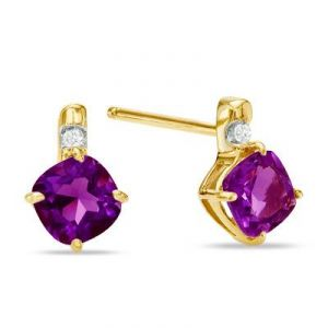 Ivy,Soie,Cloe,Jpearls,Port,Ag Diamond Jewellery - AgGem Diamond Velvet Square Gemstones Earring