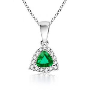 Ag Gem Real Diamond Green Gemstones Pendant