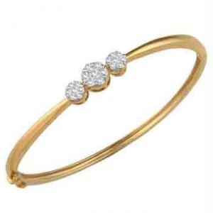 Ag Real Diamond Pressure Set Fashion Bracelet