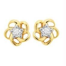Ag Real Diamond Flower Earring Agse0005
