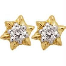 Ag Real Diamond Stone Star Earring Agse0017