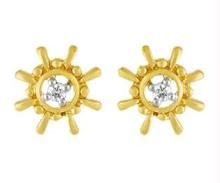 Ag Real Diamond Fancy Round Earring Agse0024