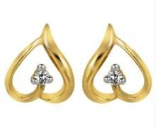 avsar,ag,lime,kalazone,shonaya,Sangini,Asmi Diamond Earrings - Ag Real Diamond Stone Heart Earring AGSE0026