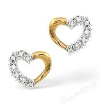 Avsar,Ag,Triveni,Flora,Cloe,Unimod Diamond Jewellery - Ag Real Diamond  Stone Heart Earring AGSE0039