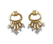Ag Real Diamond Stone Key Chain Earring Agse0045