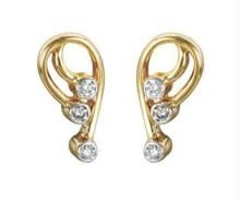 Ag Real Diamond Inter Pear Earring Agse0049