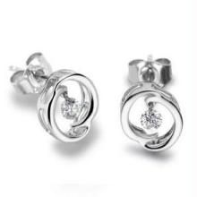 Ag Real Diamond Stone Fancy Earring Agse0051
