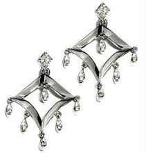 Ag Real Diamond Stone Dangling Earring Agse0058
