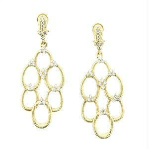 Ag Real Diamond Gold Plated Circulars Earring Ag