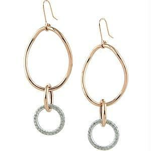 Kiara,La Intimo,Shonaya,Jharjhar,Unimod,Kalazone,Ag Women's Clothing - Ag Real Diamond Double Circular Fancy Earring