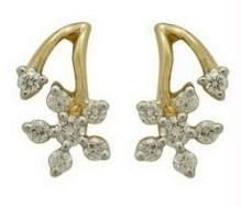 Ag Real Diamond Stone Earring Agse0115