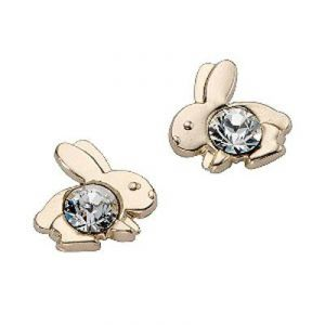Asmi,Platinum,Ivy,Unimod,Ag Women's Clothing - Ag Real Diamond Rabbit Shape Earrings