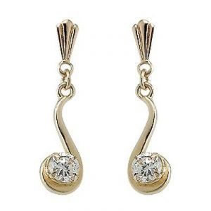 Ag Real Diamond Solitaire Fancy Earrings
