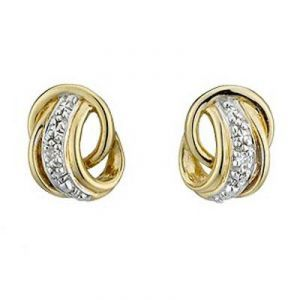 Ag Real Diamond Circular Band Earrings