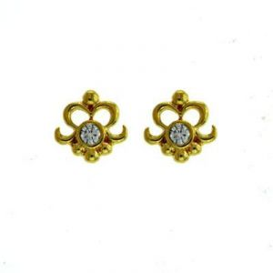 Ag Real Diamond Traditional Shape Earrings