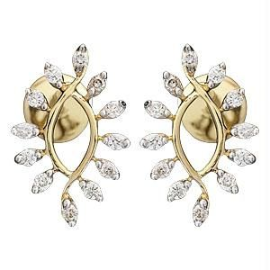 Ag Real Diamond 24 Stones Sparkling Earring
