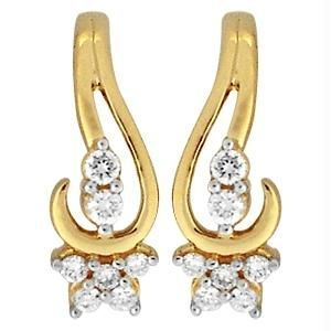 Ag Real Diamond 14 Stones Fashion Earring Agse0158