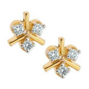 Six Stone Fan Shape Earring Agse0167