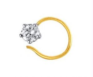 Ag Real Diamond Solitaire Diamond Fashion Nose